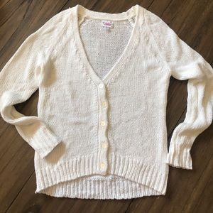 (14Y) Justice NEW White Shimmer EASTER Cardigan